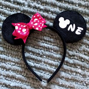 Minnie Mouse 🐭 ONE 1st Birthday Headband Ears for Sale in Long Beach, CA