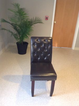 4 black tufted chairs for Sale in Sudbury, MA