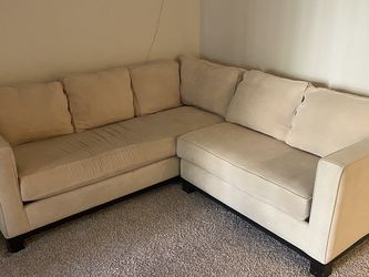 Cozy Comfy Cream L Couch for Sale in San Diego,  CA