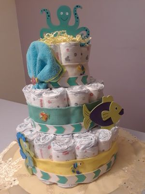 """Under the sea"" diaper cake for Sale in Sunrise, FL"