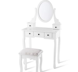 Brand new vanity table with mirror and chair for Sale in Arlington, VA