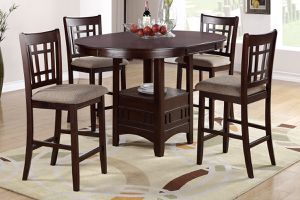 5 pcs Counter height table Dark brown finish•GREAT DEAL!!•Only $40 down•No credit check for Sale in Las Vegas, NV