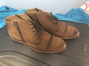 Brown Leather Massimo Matteo Double Zip Chukka Boot 13 D $100 for Sale in Hyattsville, MD