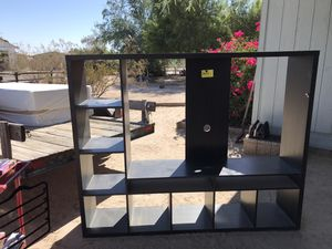Loveseat and sofa recliners, table and 4 chairs, entertainment center for Sale in Casa Grande, AZ