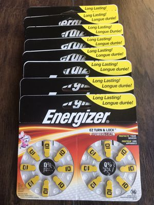 Energizer Zero Mercury Hearing Aid Batteries Az10dp 16 Count. Lot of 9. Brand New Never Used. for Sale in Bethesda, MD