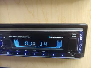 Blaupunkt mp3 receiver with detachable faceplate Bluetooth usb aux remote control 4 channel audio output ( not cd player ) for Sale in Bell Gardens, CA