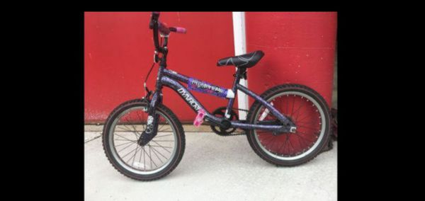 "Girls BMX Street/Dirt Bike With Hand Brake 18"", Purple/Black"