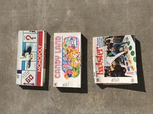 COLLECTIBLE VINTAGE GAME LOT Monopoly Candy Land Twister for Sale in Modesto, CA
