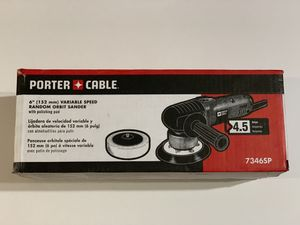 Porter-Cable 4.5 Amp Corded 6 in. Variable Speed Random Orbital Sander w/ Polishing Pad 7346SP for Sale in Garden Grove, CA