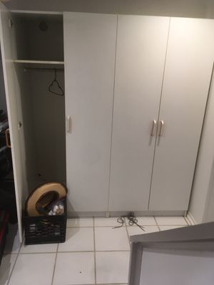 2 detachable white armoire closets for sale for Sale in Alexandria, VA