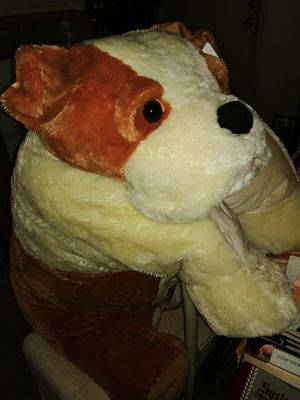 Giant bull dog stuffed animal turns into a giant pillow Covers 3/4 + of a twin bed super soft for Sale in Phoenix, AZ