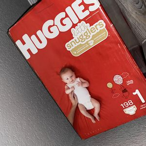 Huggies Little Snugglers Size 1 198ct for Sale in Las Vegas, NV