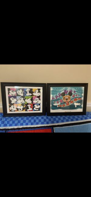 2 Mickey Mouse pictures frames for Sale in Miramar, FL