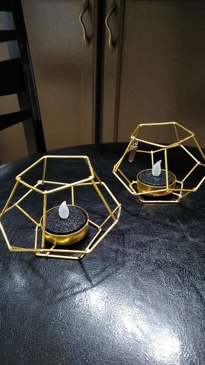 Wire candle holder w/ flickering candles for Sale in Westminster, CO