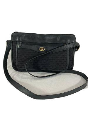 GUCCI Vintage Black Canvas and Leather Trim Crossbody Shoulder Bag for Sale in Henderson, NV