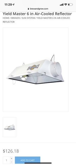 Complete grow light bundle - HPS 600w Hydrofarm Sun System Air-Cooling reflector plus ballast & bulb for Sale in Chicago, IL