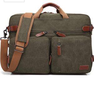 Brand new- Convertible Backpack Messenger Shoulder Bag-Canvas Green for Sale in Nashville, TN