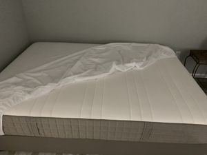 Full size mattress with box spring and legs. for Sale in Zephyrhills, FL