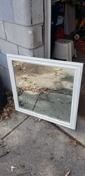 White Frame Wood Wall Mirror for Sale in Columbus, OH