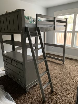 Loft bed with dresser for Sale in Hubbard, OR