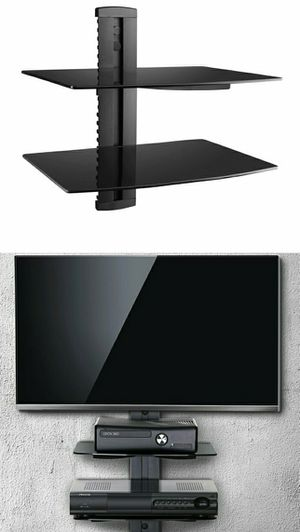 Brand new two tier DVD player shelf wall mount bracket adjustable DVD floating shelves for Sale in Whittier, CA