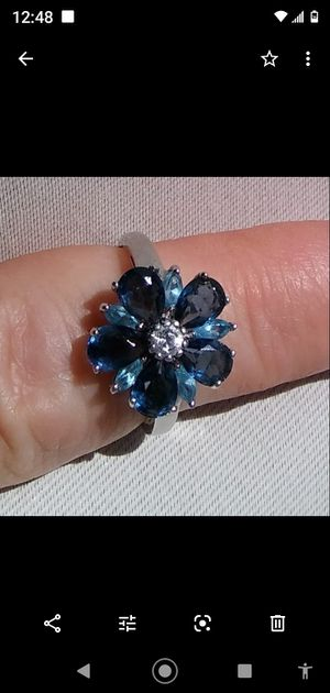 Blue Sapphire & Silver Ring for Sale in Mission Viejo, CA