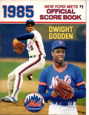 1985 New York Mets Official Score Book Dwight Gooden for Sale in North Bellmore, NY