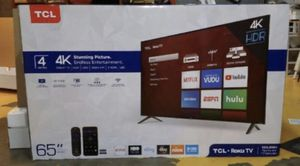 "65"" TCL roku smart 4K led hdr tv for Sale in Fontana, CA"