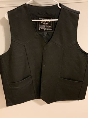 Leather Motorcycle Vest for Sale in Corona, CA