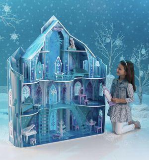Brand New (Open Box) Kidkraft Disney Frozen Snowflake Mansion Dollhouse 65880 for Sale in Kent, WA