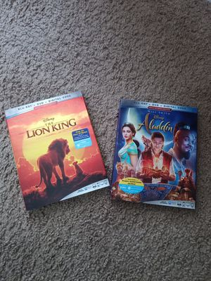 Brand New Lion King and Aladdin Blu-ray for Sale in Brandon, FL