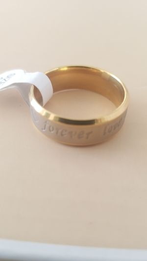 18K GOLD & STAINLESS WEDDING BAND RING SIZE 11 for Sale in Tracy, CA