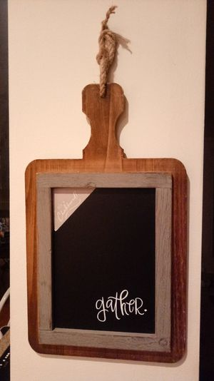 Super cute framed chalkboard on a cutting board for Sale in Brentwood, TN