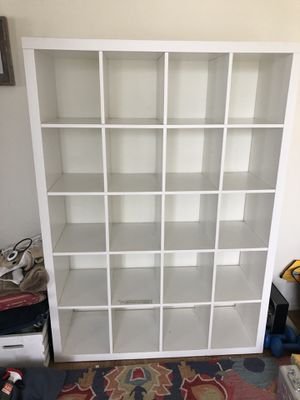 White cube bookcase for Sale in Los Angeles, CA