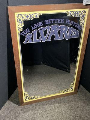 Alvarez guitar branded mirror for Sale in Pittsburgh, PA