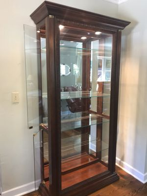 2 Solid wood /glass Curios for Sale in Miami, FL