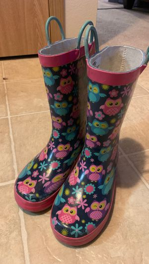 Kids rain boots size 1 for Sale in Vancouver, WA