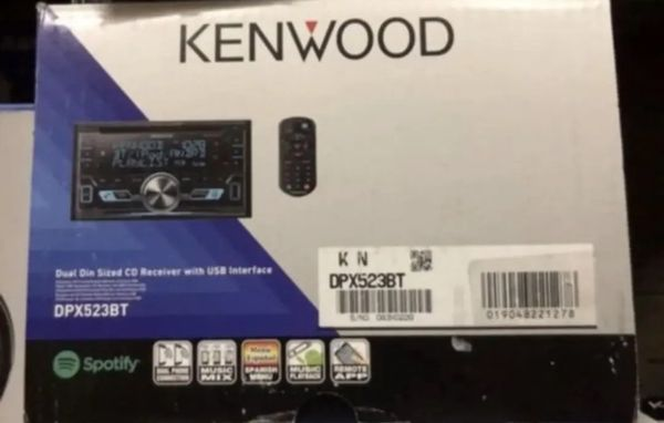 KENWOOD DPX523BT DOUBLE DIN CAR USB CD RECEIVER STEREO BLUETOOTH