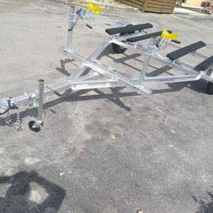 BRAND NEW DOUBLE ALUMINUM JETSKI TRAILER READY FOR PICK UP WITH SUSPENSION for Sale in Hialeah, FL