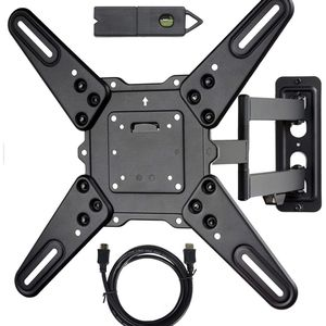 VideoSecu ML531BE2 TV Wall Mount kit with Free Magnetic Stud Finder and HDMI Cable for Most 26-55 TV and New LED TV up to 60 inch VESA 400x400 Full Mo for Sale in Quincy, MA