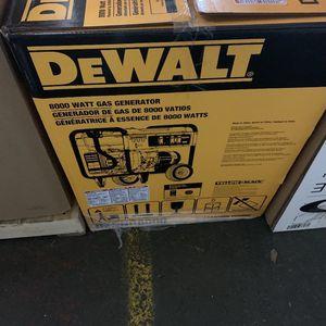Dewalt 8000 Watt Generator for Sale in Riverton, NJ
