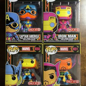 Funko Pop! Marvel Black Series Iron Man Captain America Thor DoctorStrange Target Exclusive for Sale in Whittier, CA