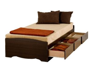 Twin XL Mates Platform Storage Bed, 3-Drawers -Component, twin XL, Expresso color, A6-187 for Sale in St. Louis, MO