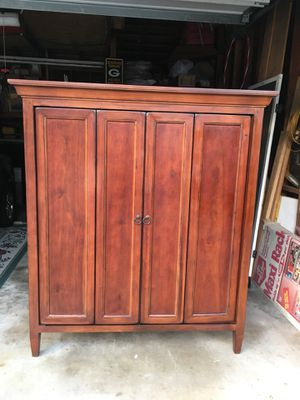 Gorgeous Wood Wardrobe Storage Closet for Sale in West Covina, CA