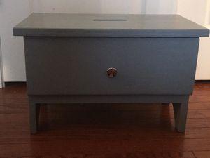 Custom grey kitchen or bathroom stool with a storage drawer. for Sale in Mundelein, IL
