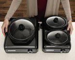 Black, Crock-Pot Hook-Up Entertaining System, Includes One Single 2 Qt. Unit and One Double 1 Qt. Unit Black for Sale in Houston, TX