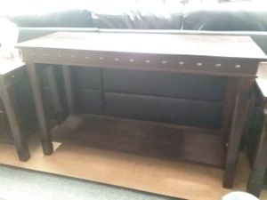 Console table @bayit furniture $0 down take home today for Sale in Baltimore, MD