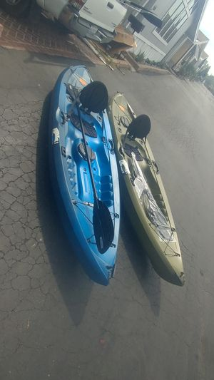 lifetime kayak 10ft $ 210 each Negotiable. 2 kayaks repaired. small details for Sale in Long Beach, CA