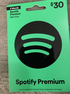$30/3 Month Spotify Premium Card for Sale in Carlisle, PA