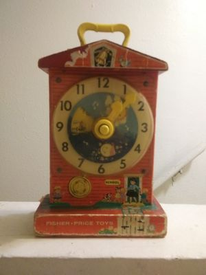 Working Antique Fisher Price Preschool Learning Clock - Time. Numbers for Sale in Topeka, KS